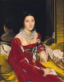 Madame de Senonnes, c.1814/16 by Ingres | Painting Reproduction