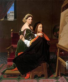 Raphael and the Fornarina | Ingres | Painting Reproduction