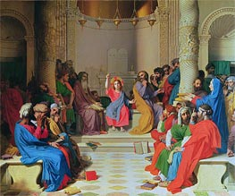 Jesus Among the Doctors | Ingres | Painting Reproduction