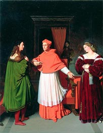 The Betrothal of Raphael and the Niece of Cardinal Bibbiena | Ingres | Painting Reproduction