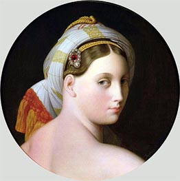 Study for an Odalisque, Undated by Ingres | Painting Reproduction
