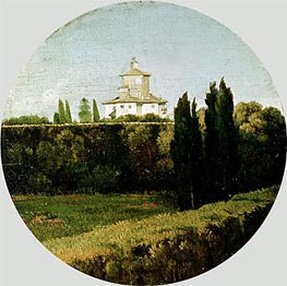 View of the Villa Medici, Rome, Undated by Ingres | Painting Reproduction