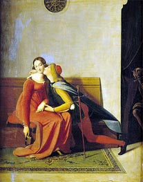 Gianciotto Discovers Paolo and Francesca, 1814 by Ingres | Painting Reproduction