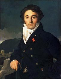 Portrait of Charles Cordier, 1811 by Ingres | Painting Reproduction