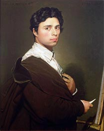 Self Portrait at the Age of Twenty-Four | Ingres | Gemälde Reproduktion