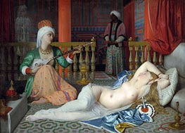 Odalisque with a Slave | Ingres | Painting Reproduction