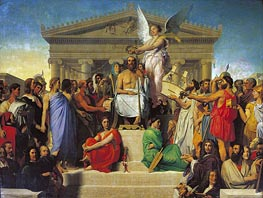 The Apotheosis of Homer | Ingres | Painting Reproduction