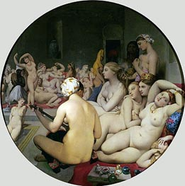 The Turkish Bath | Ingres | Painting Reproduction