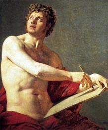 Academic Figure, 1801 by Ingres | Painting Reproduction