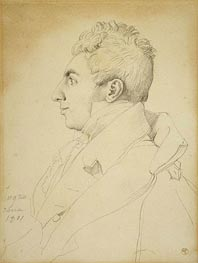 Portrait of a Man, 1811 by Ingres | Painting Reproduction