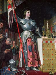 Joan of Arc at the Coronation of King Charles VII, 17th July 1429, 1854 by Ingres | Painting Reproduction