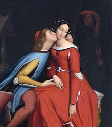 Paolo and Francesca, Undated by Ingres | Painting Reproduction