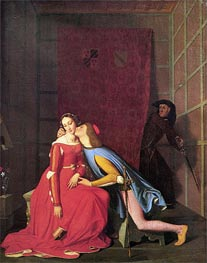 Francesca da Rimini and Paolo Malatesta, 1819 by Ingres | Painting Reproduction