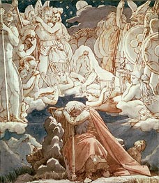 The Dream of Ossian, Undated by Ingres | Painting Reproduction