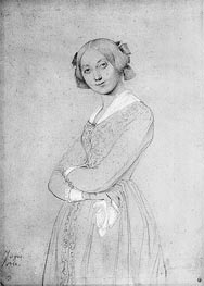 Portrait of Louise d'Haussonville, 1842 by Ingres | Painting Reproduction