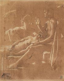 Study for 'Virgil Reading the Aeneid to Augustus', c.1812 by Ingres | Painting Reproduction