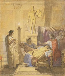 Virgil Reading the Aeneid to Augustus, 1850 by Ingres | Painting Reproduction