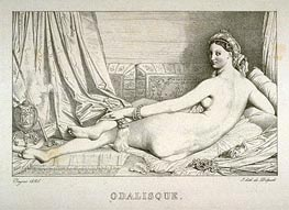 Odalisque, 1825 by Ingres | Painting Reproduction
