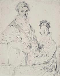 The Alexandre Lethiere Family, 1815 by Ingres | Painting Reproduction