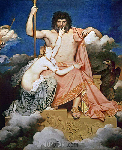 Jupiter and Thetis, 1811   Ingres   Painting Reproduction