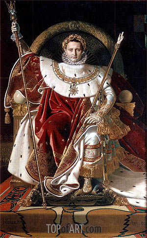 Napoleon I on the Imperial Throne, 1806 | Ingres | Painting Reproduction
