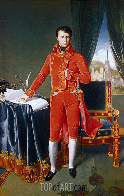 Napoleon as First Consul, 1804 | Ingres | Painting Reproduction