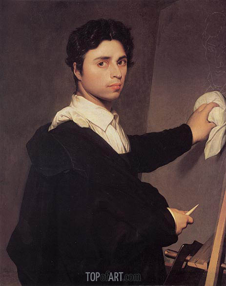 Ingres as a Young Man, c.1850/60 | Ingres | Painting Reproduction