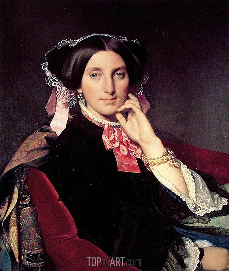 Madame Henri Gonse, c.1845/52 | Ingres | Painting Reproduction