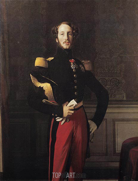 Ferdinand-Philippe-Louis-Charles, Duke of Orleans, 1842 | Ingres | Painting Reproduction