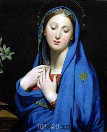 Virgin of the Adoption, 1858 | Ingres | Painting Reproduction
