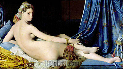 The Grande Odalisque, 1814 | Ingres | Painting Reproduction