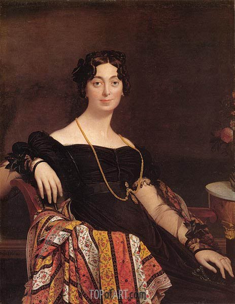 Madame Jacques-Louis Leblanc, 1823 | Ingres | Painting Reproduction