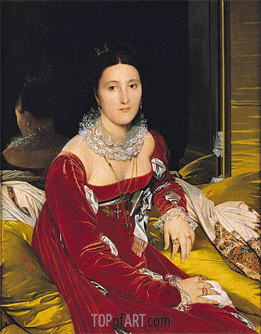Madame de Senonnes, c.1814/16 | Ingres | Painting Reproduction