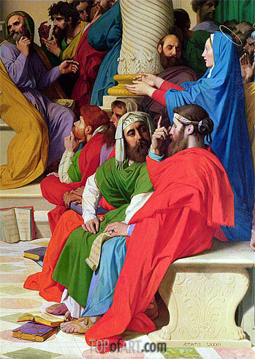 Jesus Among the Doctors (Detail), 1862 | Ingres | Painting Reproduction