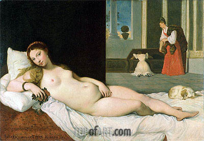 Reclining Venus (After Titian), 1822 | Ingres | Painting Reproduction