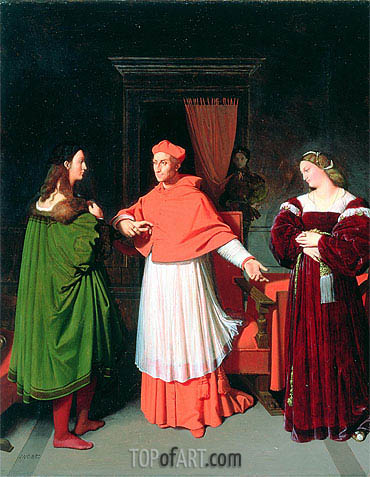 The Betrothal of Raphael and the Niece of Cardinal Bibbiena, 1813 | Ingres | Painting Reproduction
