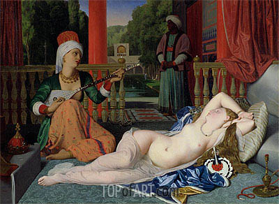 Odalisque with Slave, 1842 | Ingres | Painting Reproduction