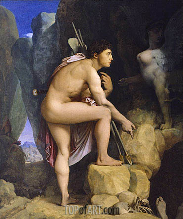 Oedipus and the Sphinx, 1864 | Ingres | Gemälde Reproduktion