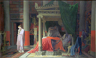 Antiochus and Stratonice, 1840 | Ingres | Painting Reproduction