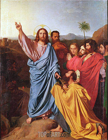 Jesus Returning the Keys to St. Peter, 1820   Ingres   Painting Reproduction