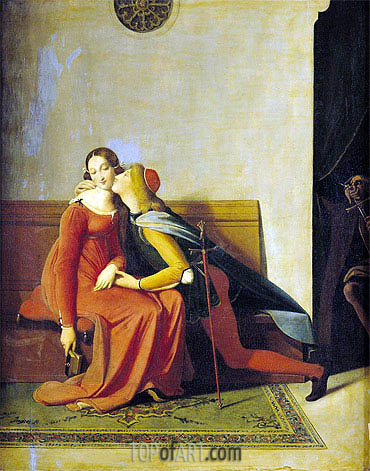 Gianciotto Discovers Paolo and Francesca, 1814 | Ingres | Painting Reproduction