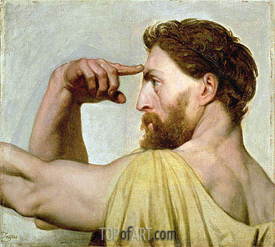 Phidias, c.1827 | Ingres | Painting Reproduction