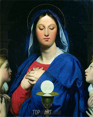 The Virgin of the Host, 1866 | Ingres | Painting Reproduction