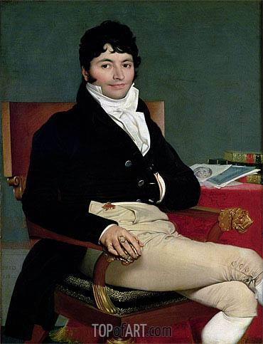 Philibert Riviere, 1805 | Ingres | Painting Reproduction