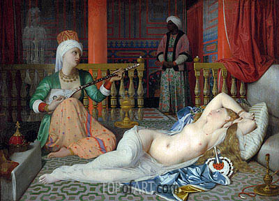 Odalisque with a Slave, c.1839/40 | Ingres | Painting Reproduction