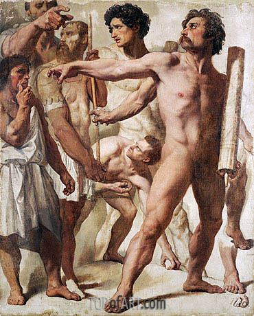 Studies for 'The Martyrdom of Saint Symphorien', 1833 | Ingres | Painting Reproduction
