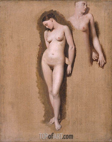 Study for 'Roger Freeing Angelica', 1818 | Ingres | Painting Reproduction