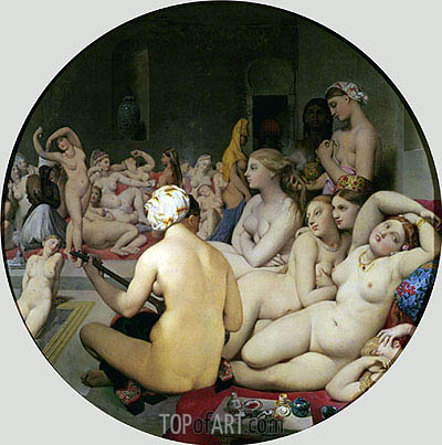 The Turkish Bath, 1863 | Ingres | Painting Reproduction
