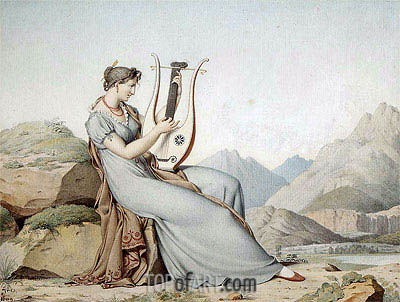 Sappho or Corinne, 1809 | Ingres | Painting Reproduction