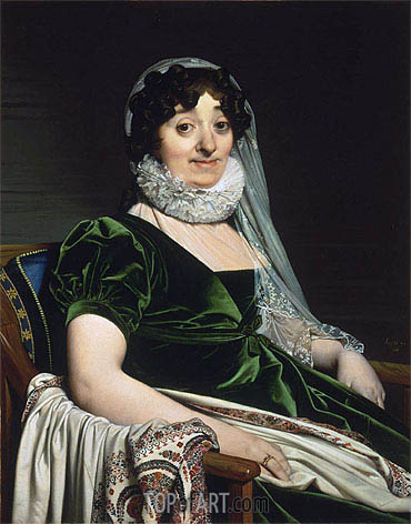 Portrait of the Countess of Tournon, 1812   Ingres   Painting Reproduction